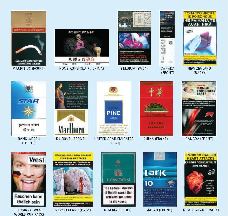 cigarettes warning international