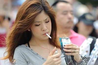 japan women smoking